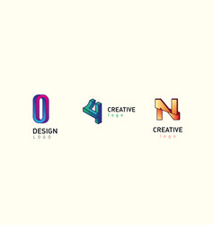 set modern logos in style gradient vector image