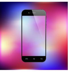 smartphone on gradient background mobile phone vector image