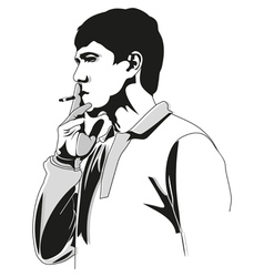 smoking vector image