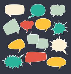 speech frames speak kids bubble set with speaking vector image