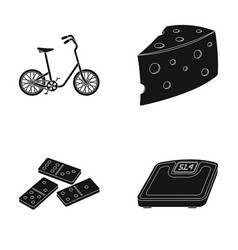 Sports cooking and other web icon in black style vector