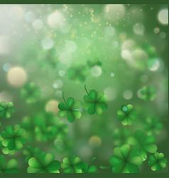 St patrick s day shamrocks blur effect eps 10 vector