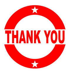 Thank you red rubber ink stamp vector