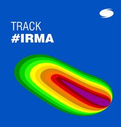 track irma heath signature hurricane indication vector image