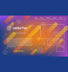 Trendy minimal cover design layout or landing page vector