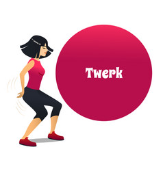 twerk dancer in cartoon style vector image