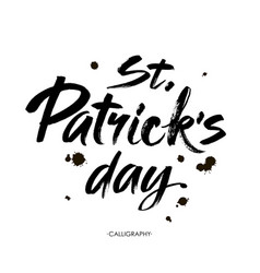 typographic saint patricks day vector image