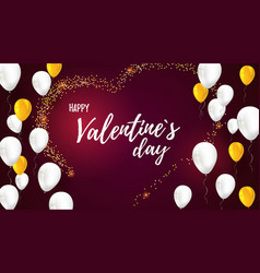 valentine day greetings with design of text vector image