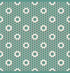 vintage polka dot small flower lace seamless vector image