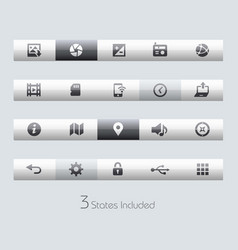 web and mobile 5 - toolbars vector image
