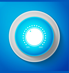 White dial knob level technology settings icon vector