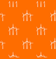 wind turbines pattern seamless vector image