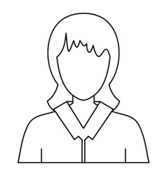 Women avatar icon outline style vector image