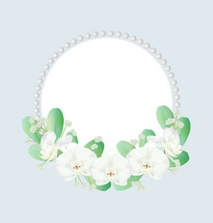 wreath decorated with orchid vector image