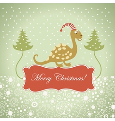 cute dragon for greeting card vector image