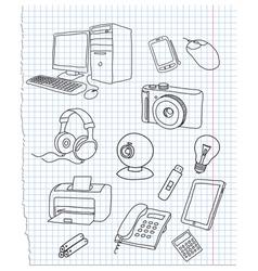 electronics vector image vector image