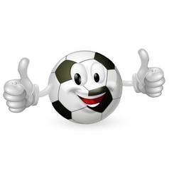 football ball mascot vector image vector image