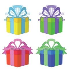 Gift box square set vector image vector image