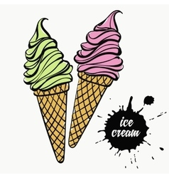 ice cream in a cup vector image vector image