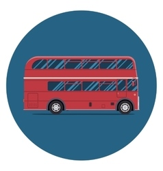 London bus sity transportation Modern flat design vector image