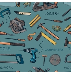 Pattern from various Carpentry woodworker vector image