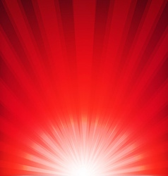 Red Xmas Burst Poster vector image