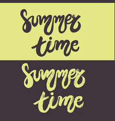 set of hand drawn lettering - summer time vector image vector image