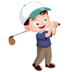 Young golf player vector image vector image
