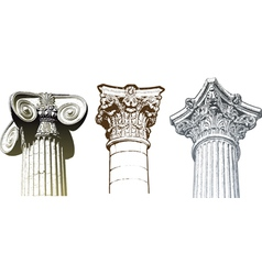 columns set vector image vector image