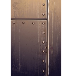 Grungy metal texture vector image