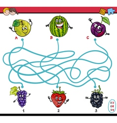 maze game for children vector image