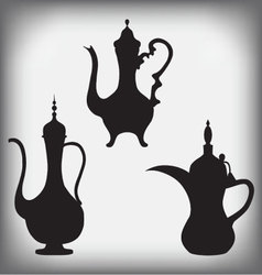 A jug of old arabic arabic coffee pots vector