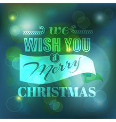 Christmas Card - Calligraphic Elements vector image