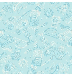 Craft tools pattern vector image