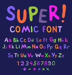 Funny alphabet vector image