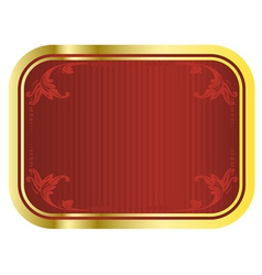 gold beer tag vector image vector image