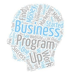 How My Business Began text background wordcloud vector image