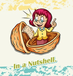 Old saying in a nutshell vector image