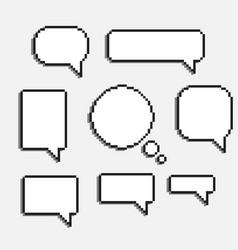 pixel art speech cloud vector image vector image