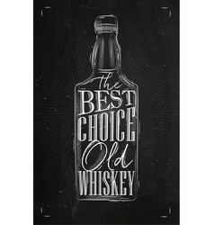 poster whiskey best choice vector image vector image