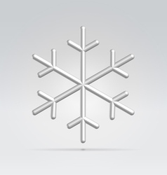 wire snowflake vector image vector image