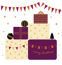 card with presents vector image vector image