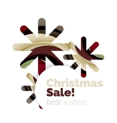Christmas and New Year sale banner vector image vector image