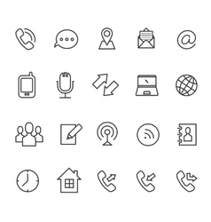Communication line icons for business card vector image