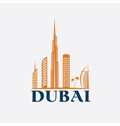 Dubai City Skyline design template vector image