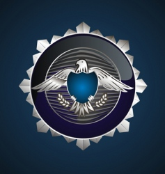 eagle shield vector image vector image