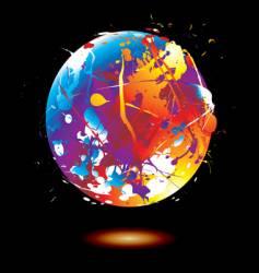paint splat globe vector image