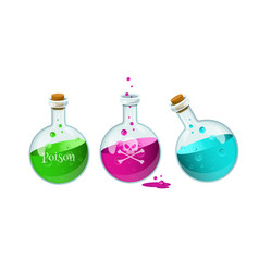 poison bottllesgame icon of a poison bottle vector image vector image