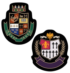 royal crown college badge vector image vector image