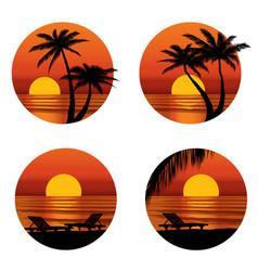 Summer holidays background seaside view beach vector